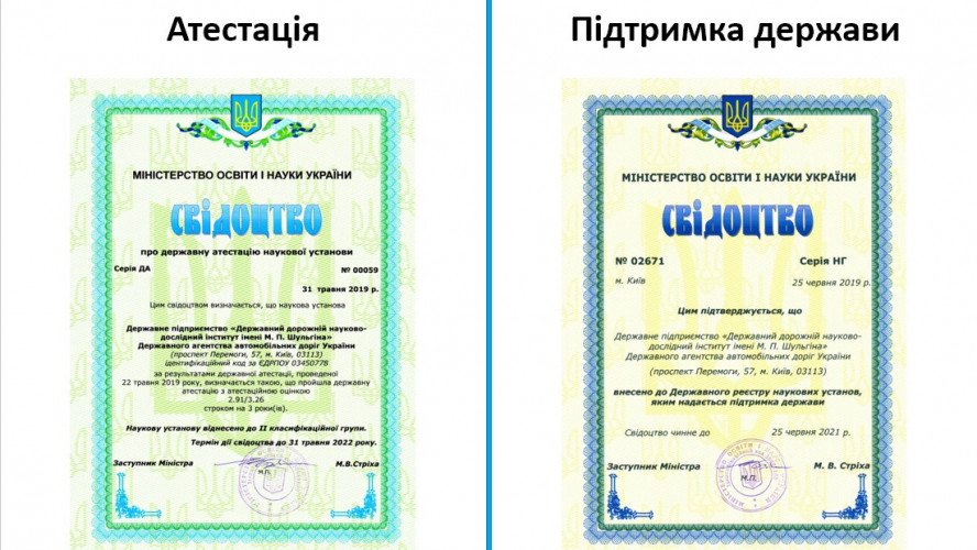 INCREASE OF THE SCIENTIFIC LEVEL OF «DERZHDORNDI»  SE